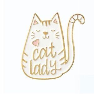 Jewelry - 🛑S A L E🛑 Cat Lady Enamel Pin Crazy Jewelry